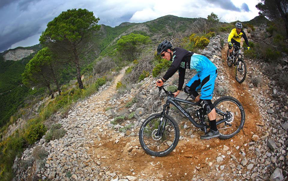 Roost MTB riding catered ranch Malaga bike holidays Downhill Enduro Road cycling Costa del Sol Spain van assisted uplifts bike trailers